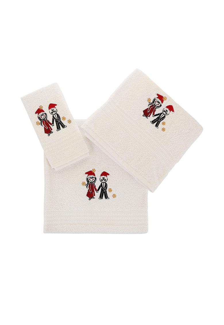 Leunelle Set de prosoape albe cu broderie tematica – 3 piese