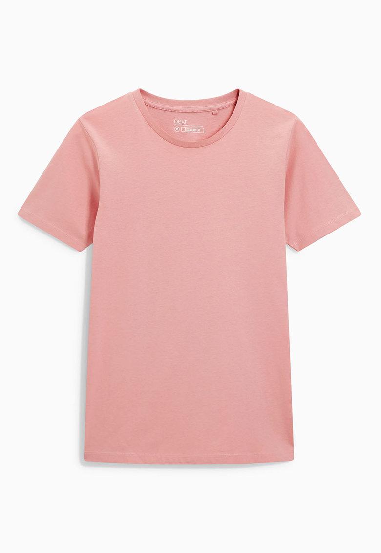 NEXT Tricou roz cu decolteu la baza gatului