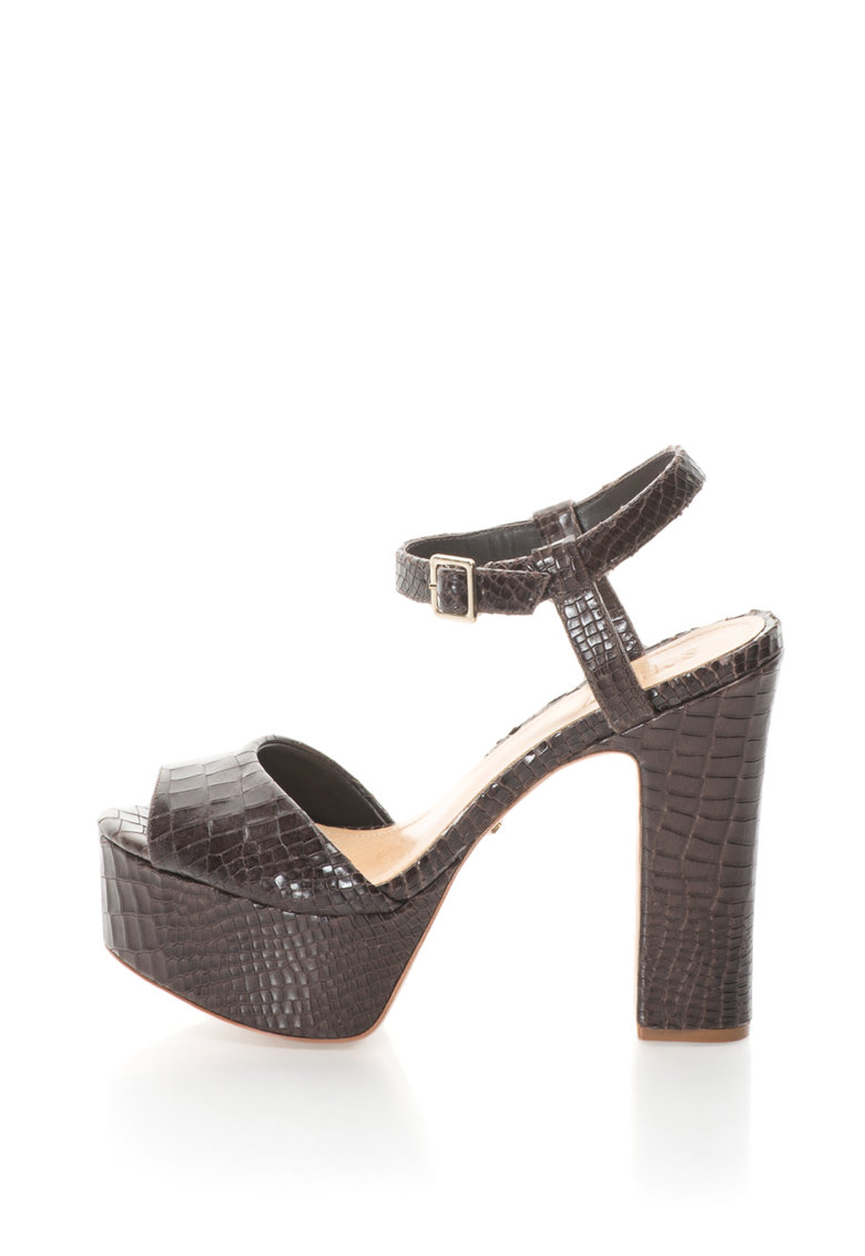 Sandale din piele cu imprimeu reptila de la Schutz