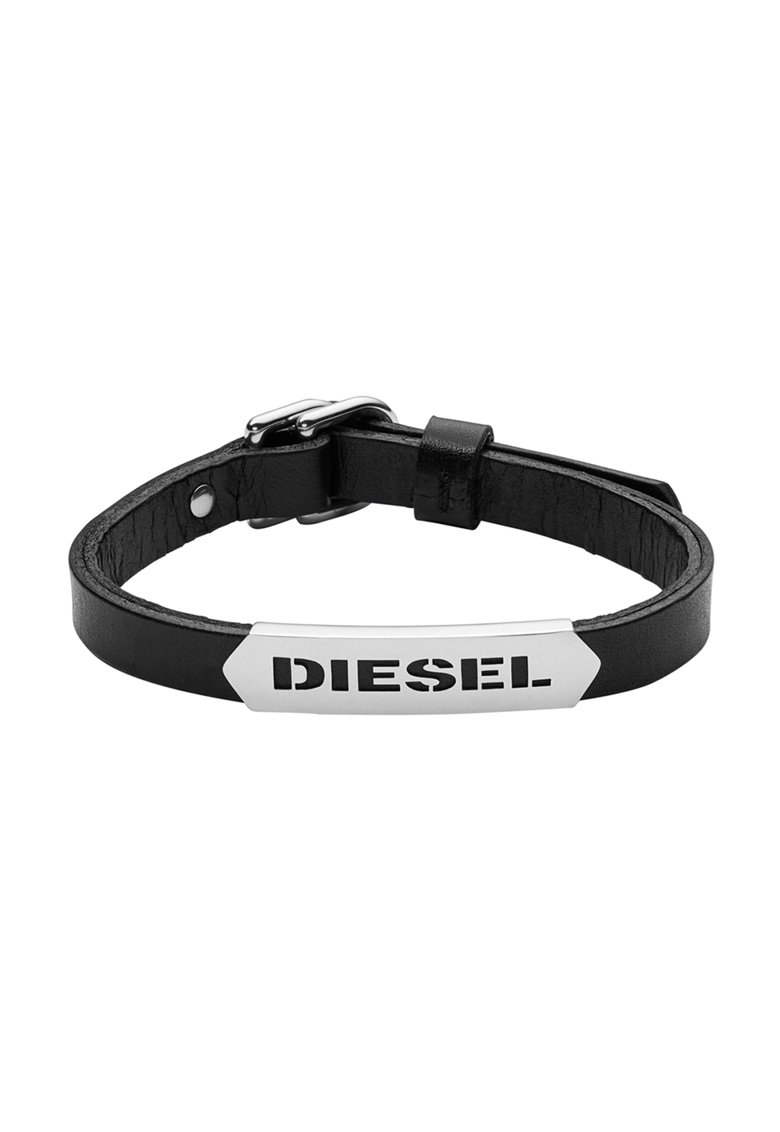 Bratara neagra de piele de la Diesel