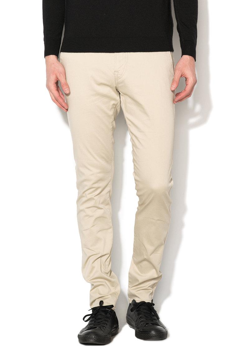 Pantaloni super skinny bej