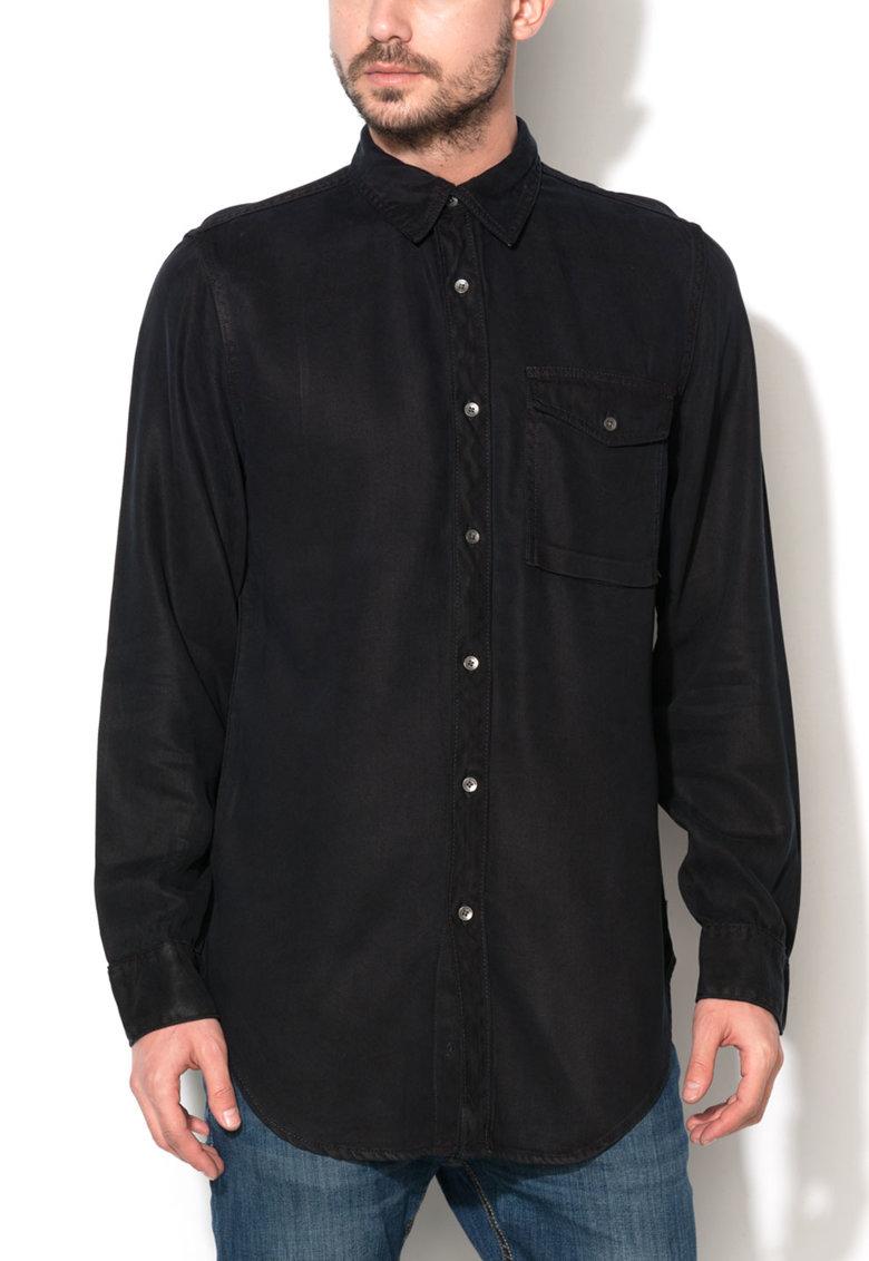 Camasa neagra din lyocell