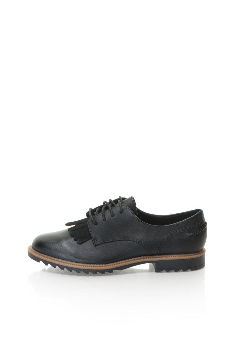 Clarks Pantofi Brogue negri de piele Griffin