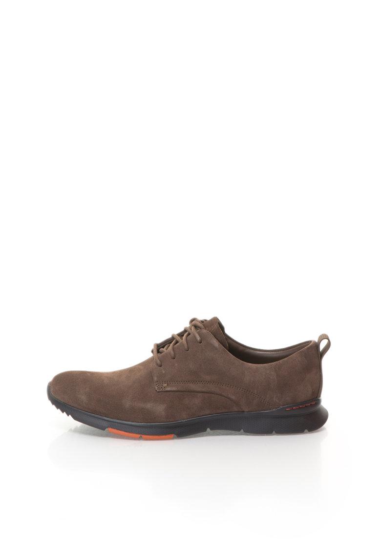 Clarks Pantofi casual maro de piele intoarsa Tynamo Walk