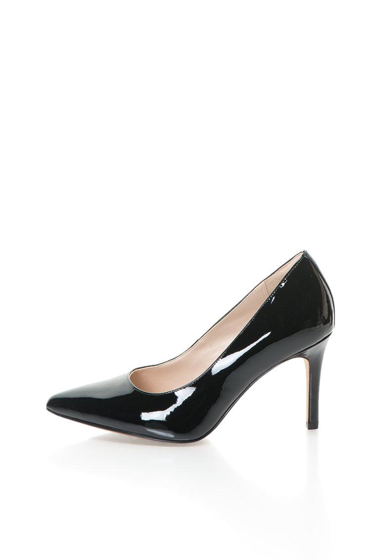 Pantofi negri din piele lacuita Dinah Keer de la Clarks