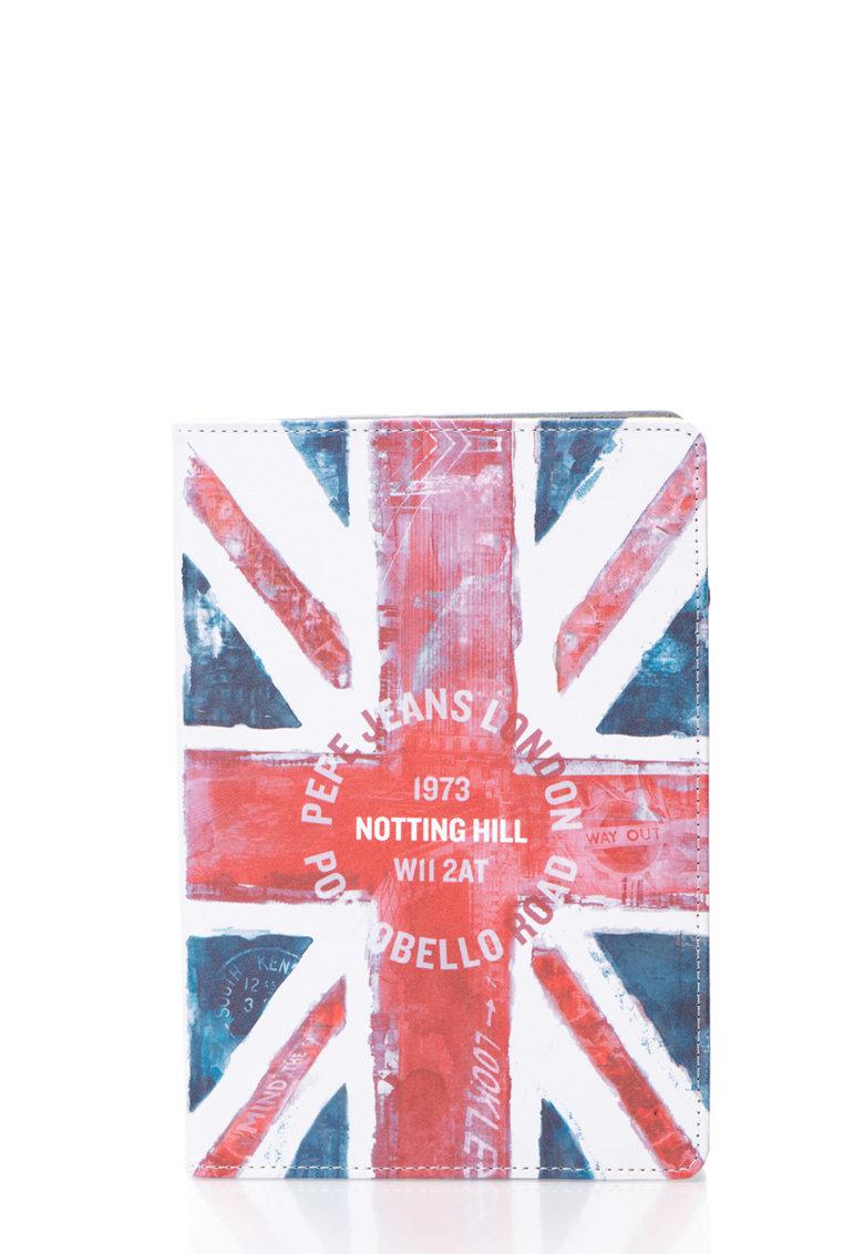 Husa multicolora cu imprimeu steag pentru iPad Air de la Pepe Jeans London