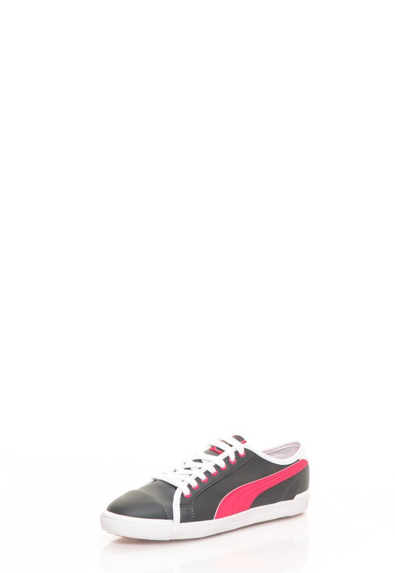 Puma Pantofi sport gri inchis cu roz Elki
