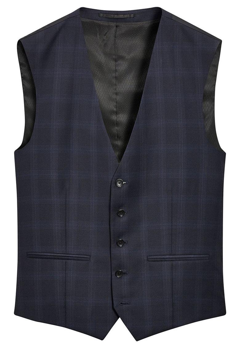 Vesta eleganta din lana in carouri