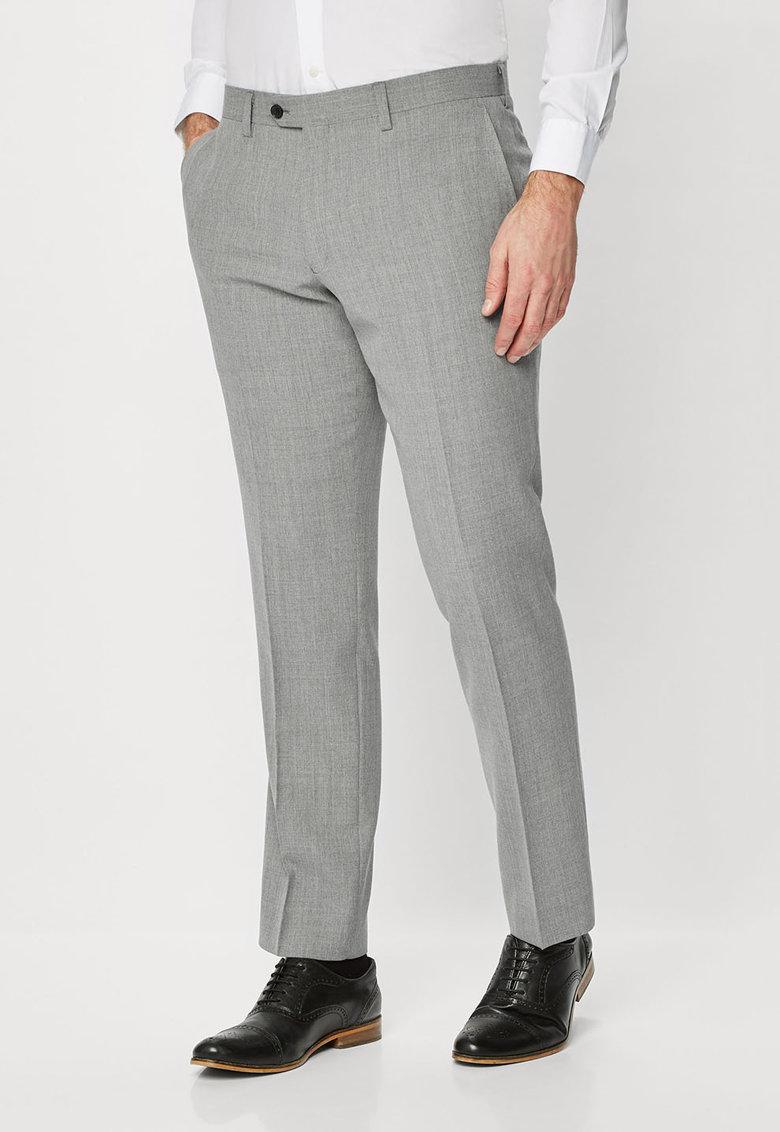 NEXT Pantaloni slim fit gri melange de lana