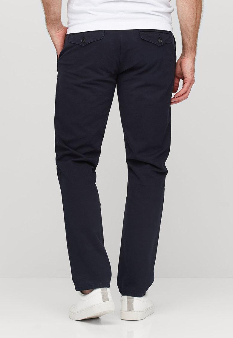 NEXT Pantaloni chino bleumarin cu o curea maro