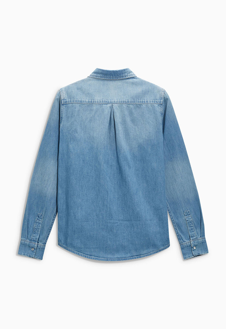 NEXT Camasa bleu din denim cu buzunare