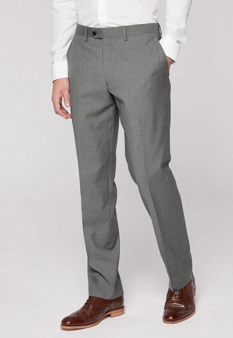Pantaloni eleganti regular fit din lana 1