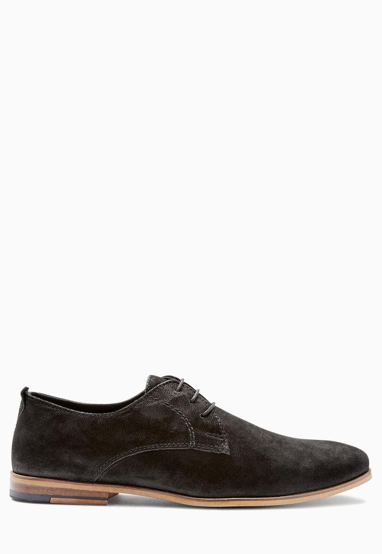 NEXT Pantofi Oxford negri de piele