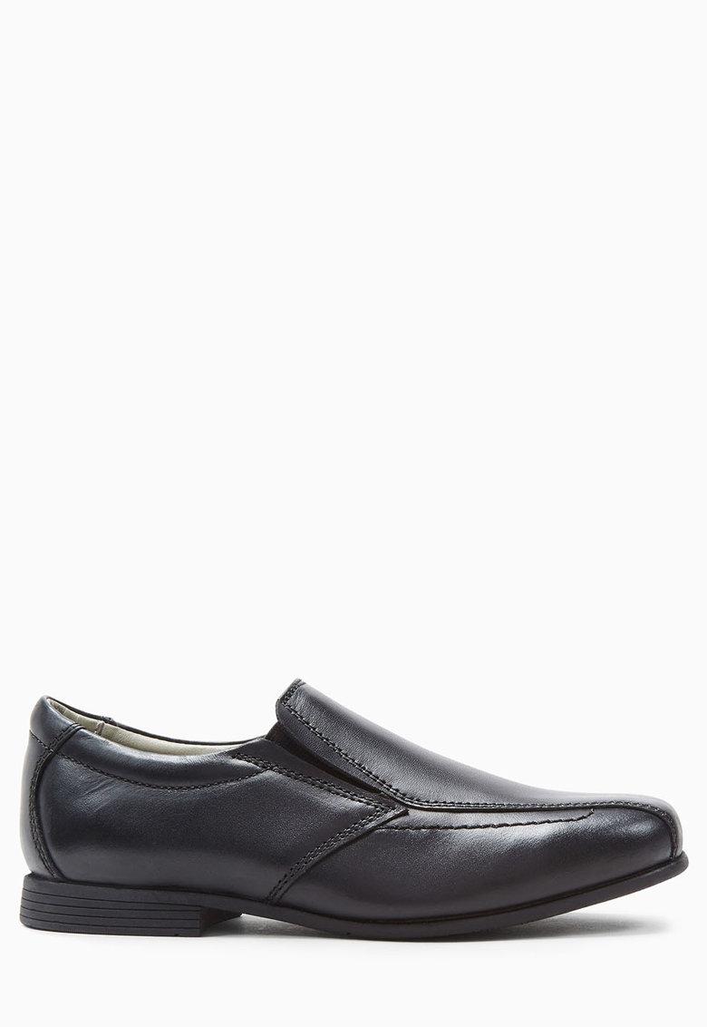 Pantofi loafer negri de piele de la NEXT