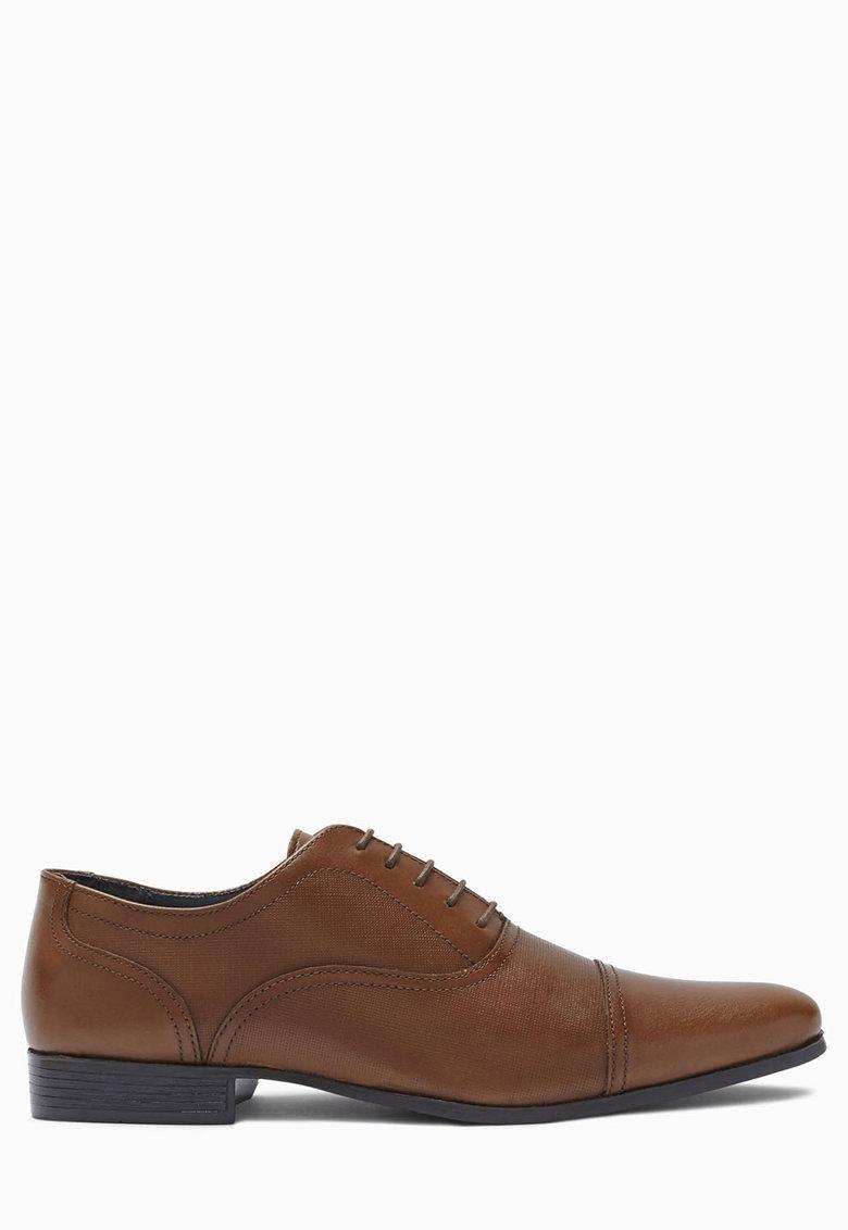 NEXT Pantofi Oxford maro de piele