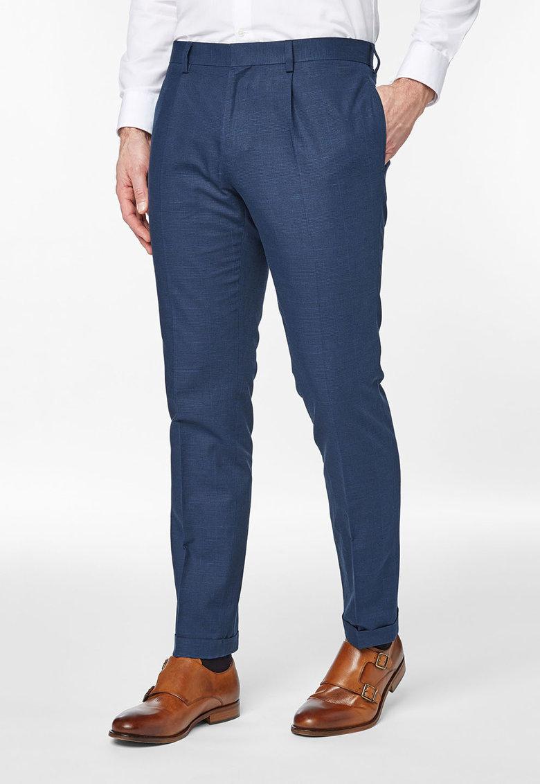 NEXT Pantaloni eleganti albastri in carouri