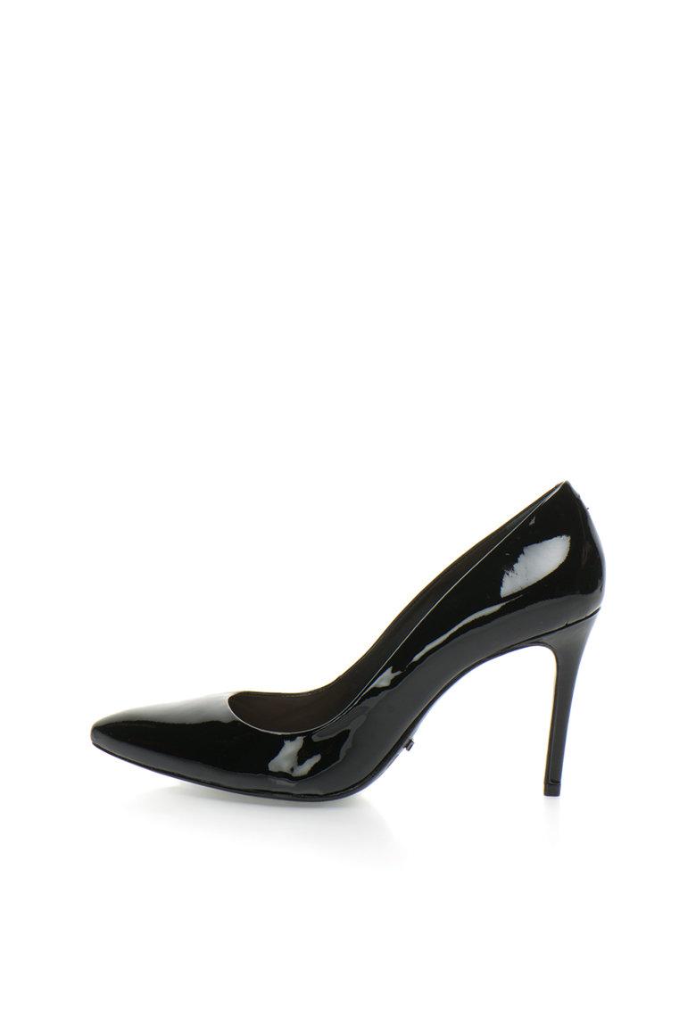 Schutz Pantofi stiletto negri din piele lacuita