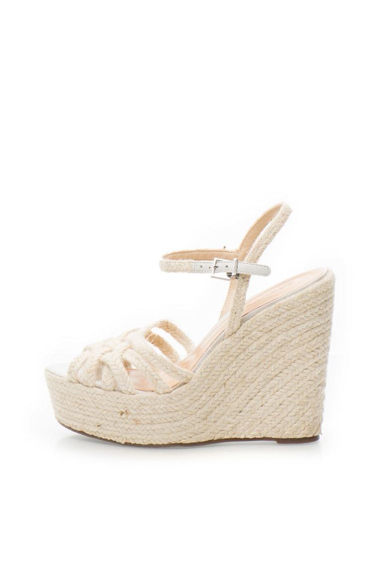Schutz Sandale wedge tip espadrile bej Natural