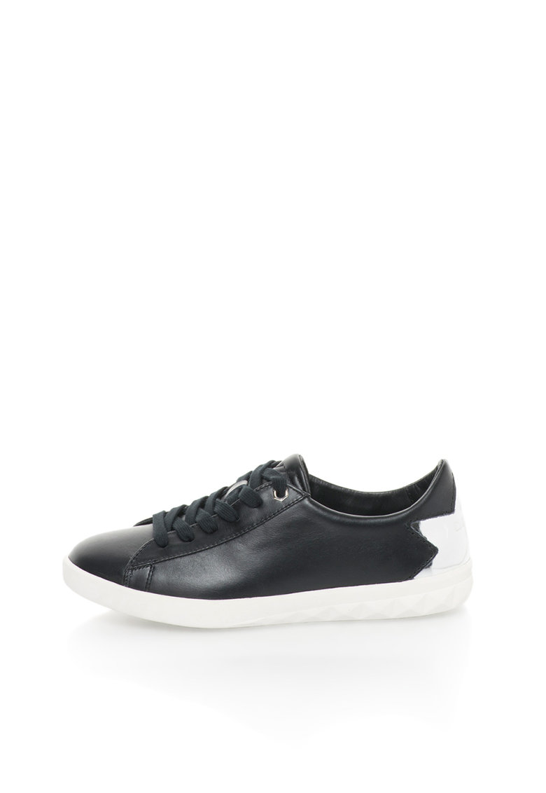 Diesel Pantofi sport negri de piele Olstice
