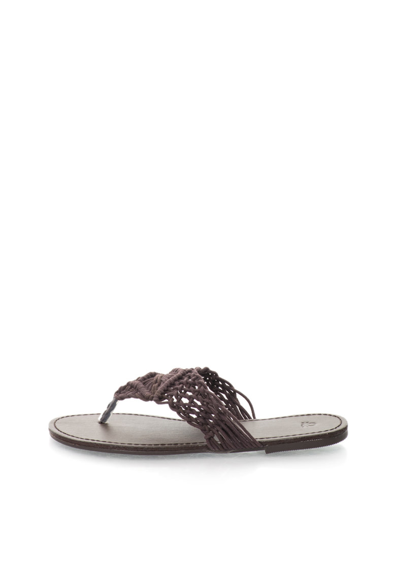 United Colors Of Benetton Papuci flip-flop maro dE macramé