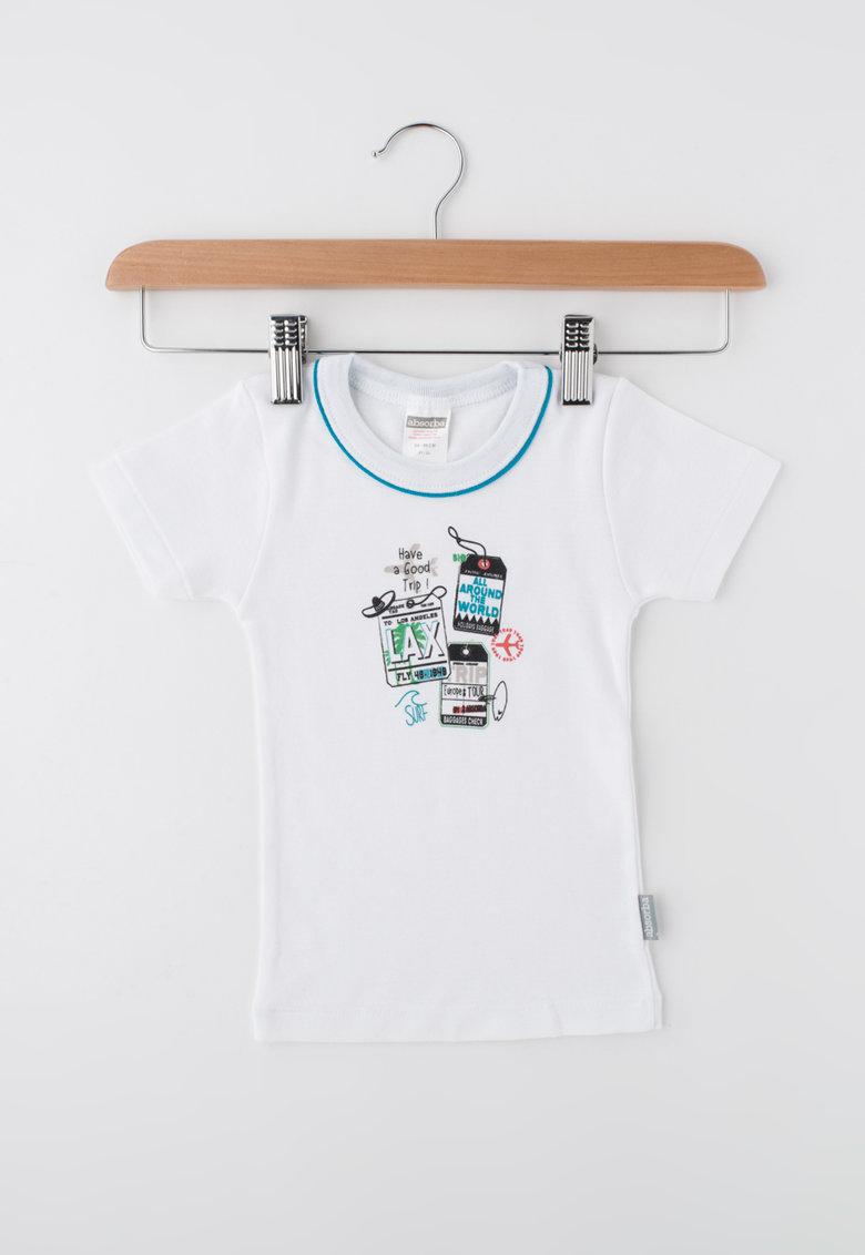 Absorba Tricou alb cu imprimeu text