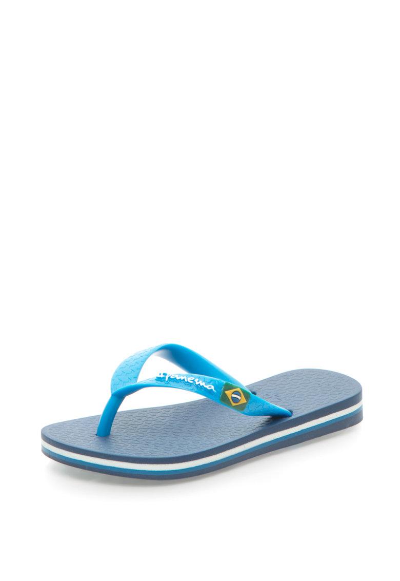 Papuci flip-flop cu detaliu cu steagul Braziliei