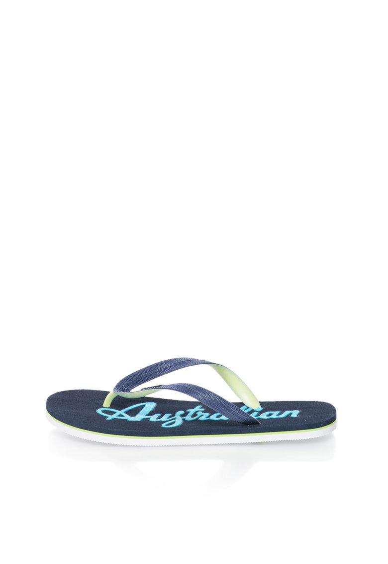 Australian Papuci flip-flop bleumarin cu logo