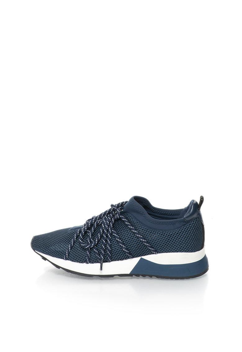 Esprit Pantofi sport slip-on bleumarin din plasa