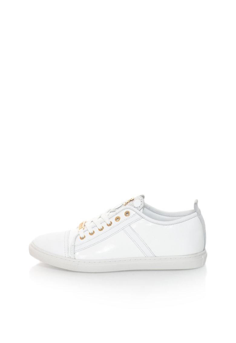 John Galliano Pantofi sport albi de piele