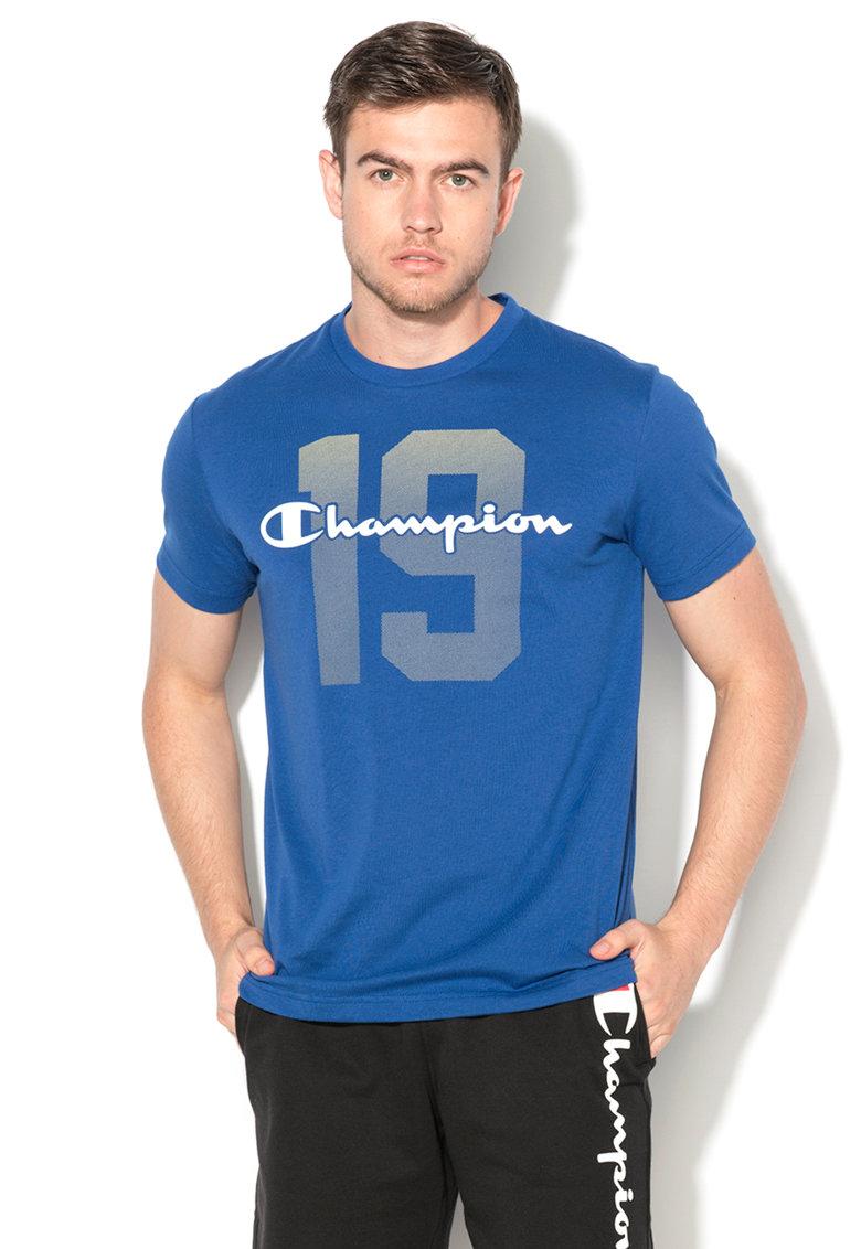 Champion Tricou easy fit albastru cu imprimeu logo