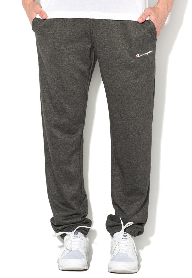 Champion Pantaloni sport gri melange comfort fit