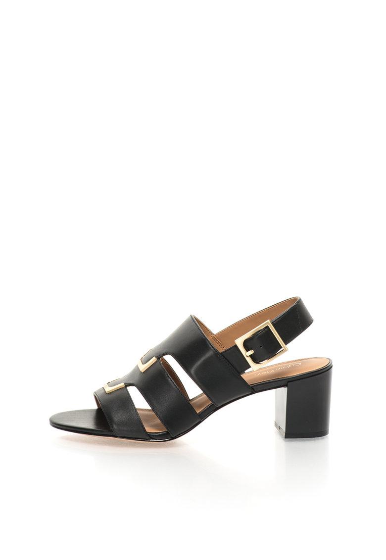 Sandale negre de piele Neda de la Calvin Klein