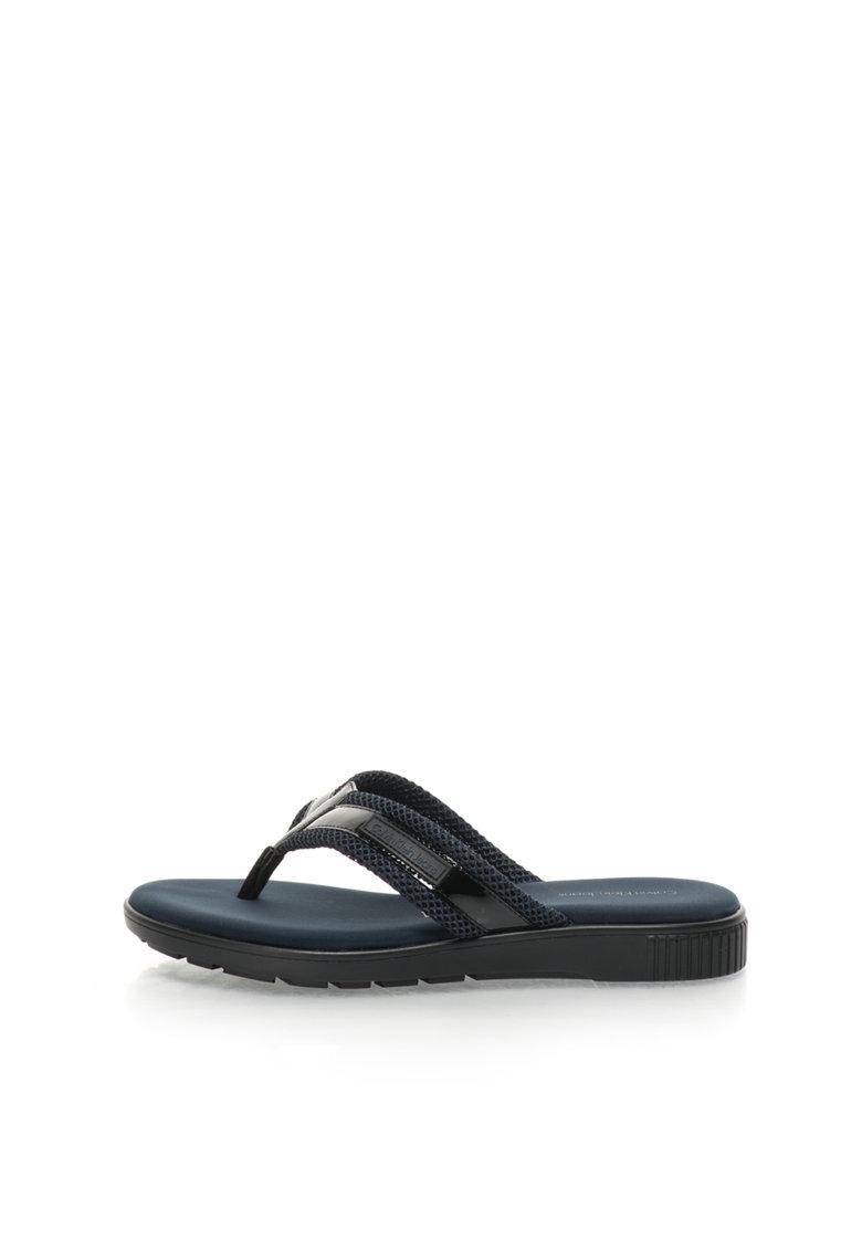 Calvin Klein Jeans Papuci flip-flop bleumarin cu negru Mahal