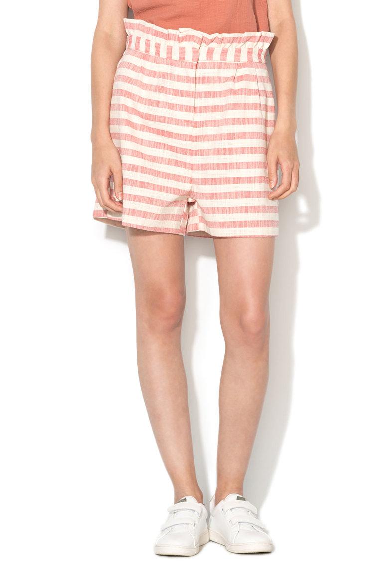 Vero Moda Pantaloni scurti rosu melange cu bej melange Aura