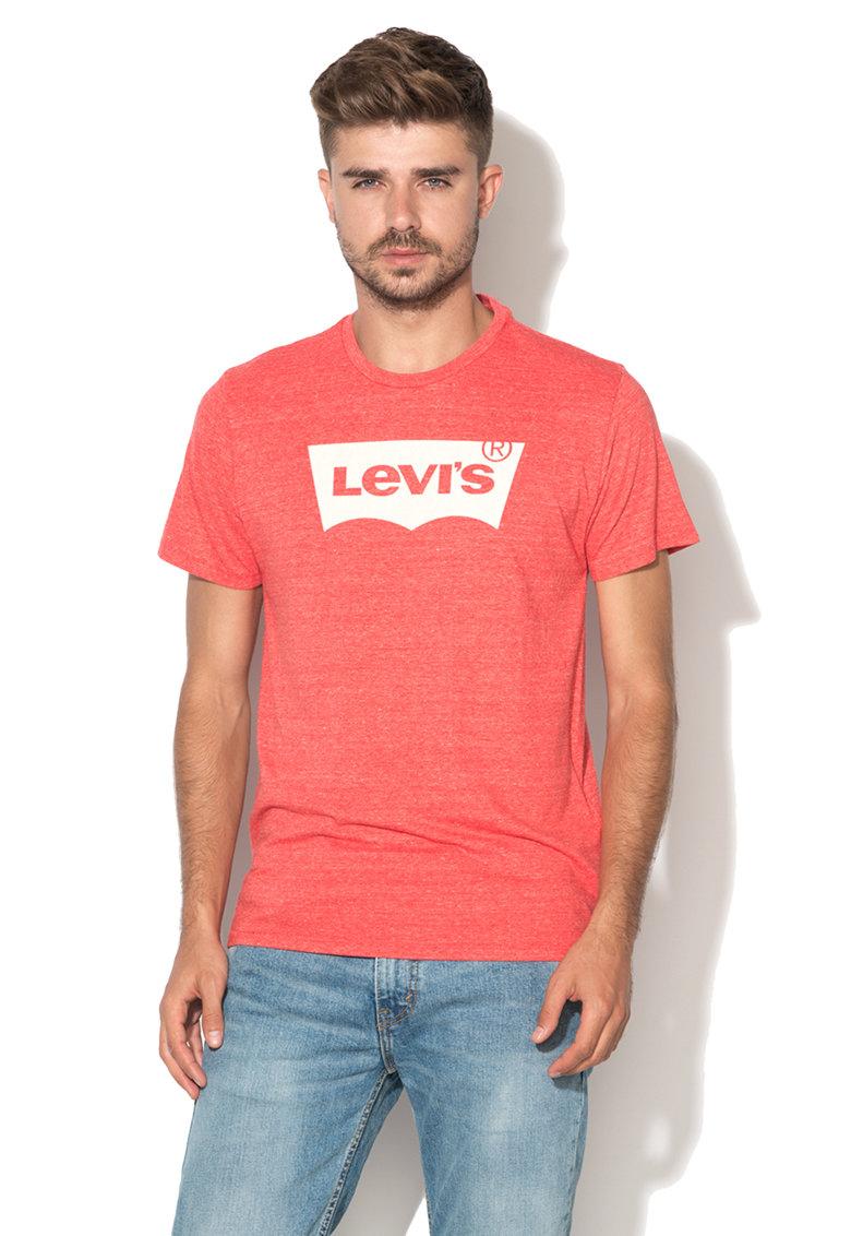 Levis Tricou rosu melange cu logo