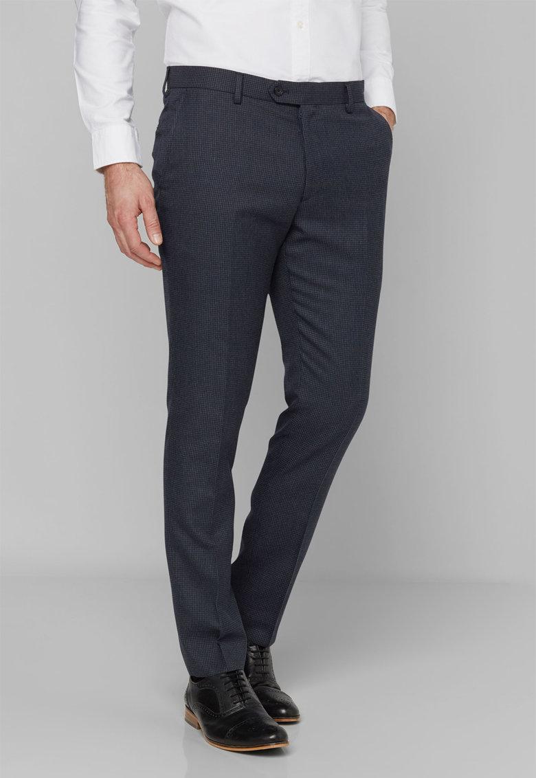 Pantaloni eleganti cu model houndstooth