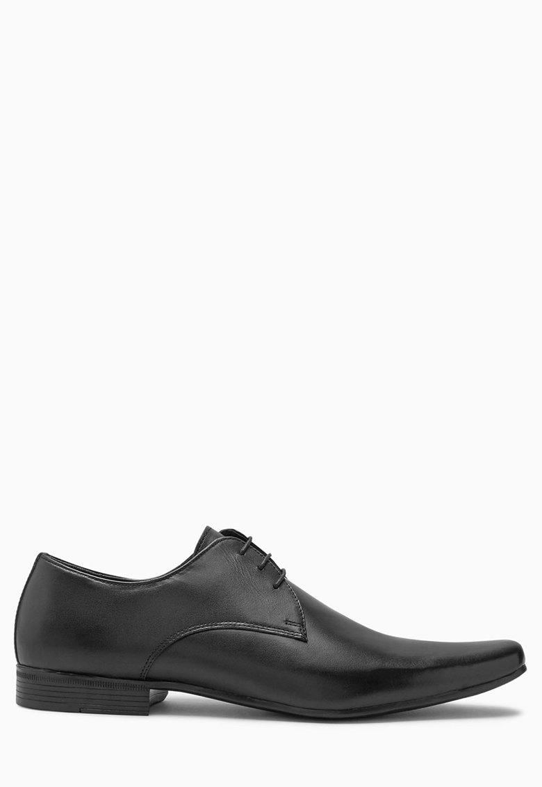 NEXT Pantofi derby negri de piele