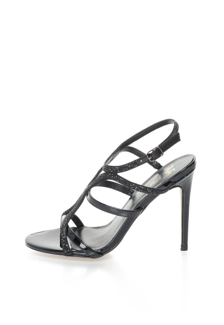 Versace 1969 Abbigliamento Sportivo Sandale negre cu strasuri Nina