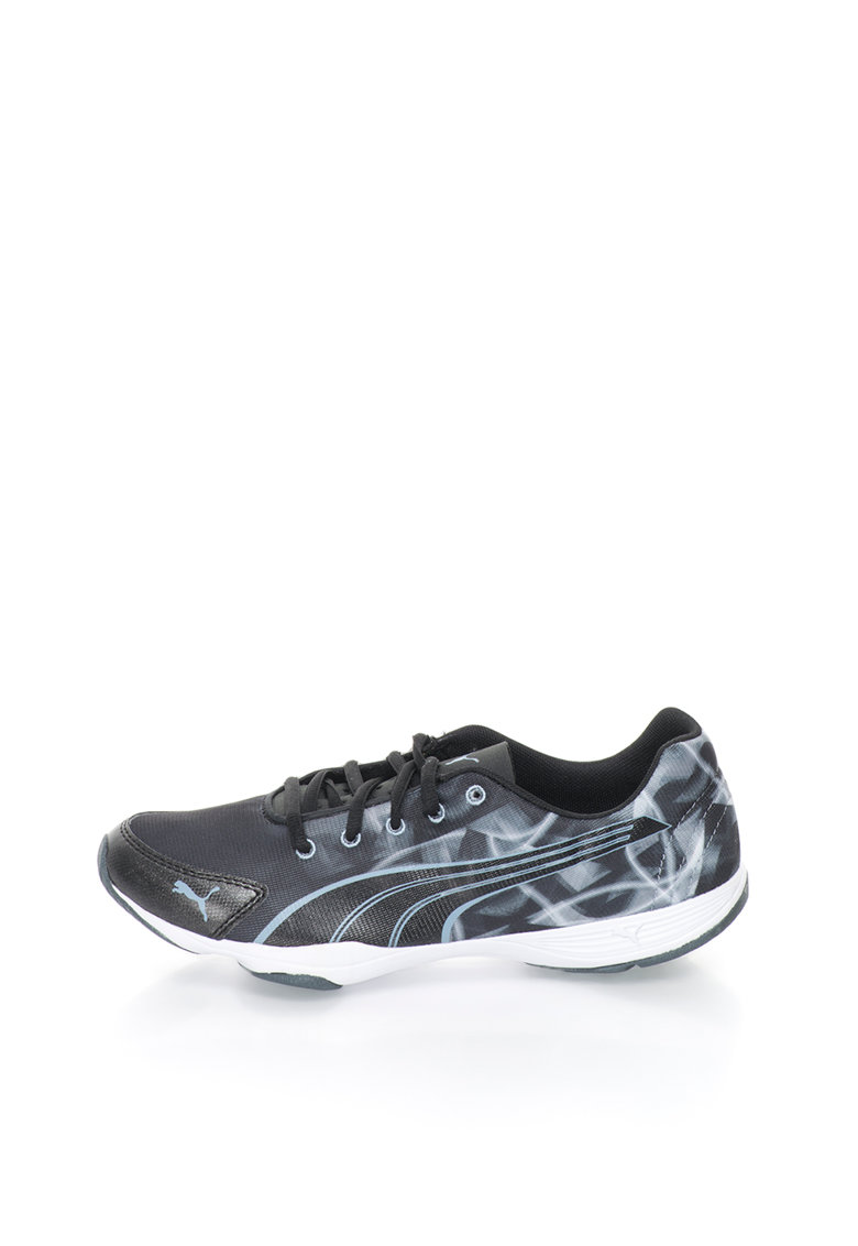 Puma Pantofi sport negru cu gri pentru fitness