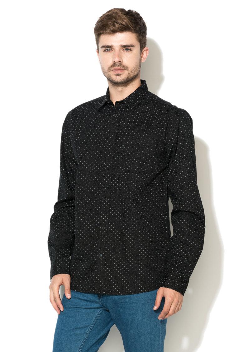 GREYSTONE Camasa neagra cu model paisley