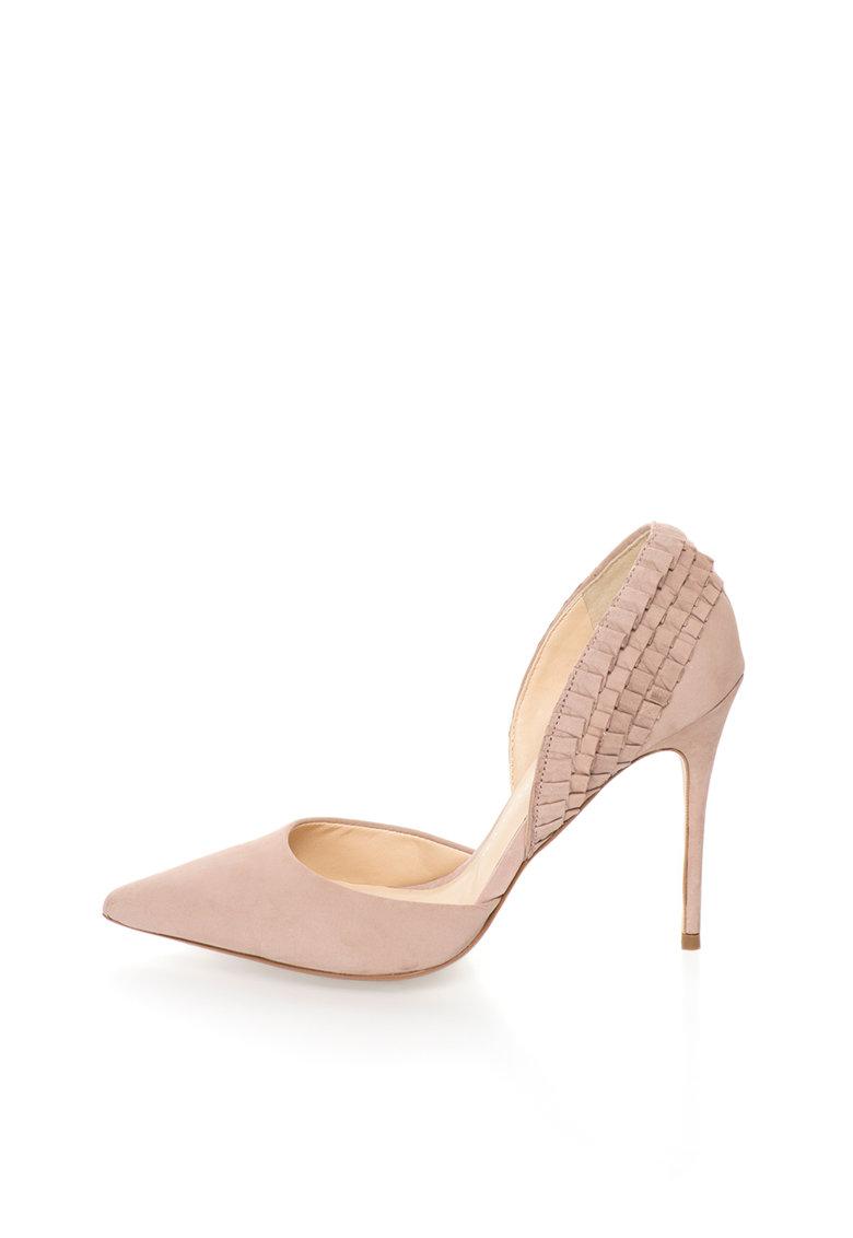 Bronx Pantofi d'Orsay de piele intoarsa cu volane