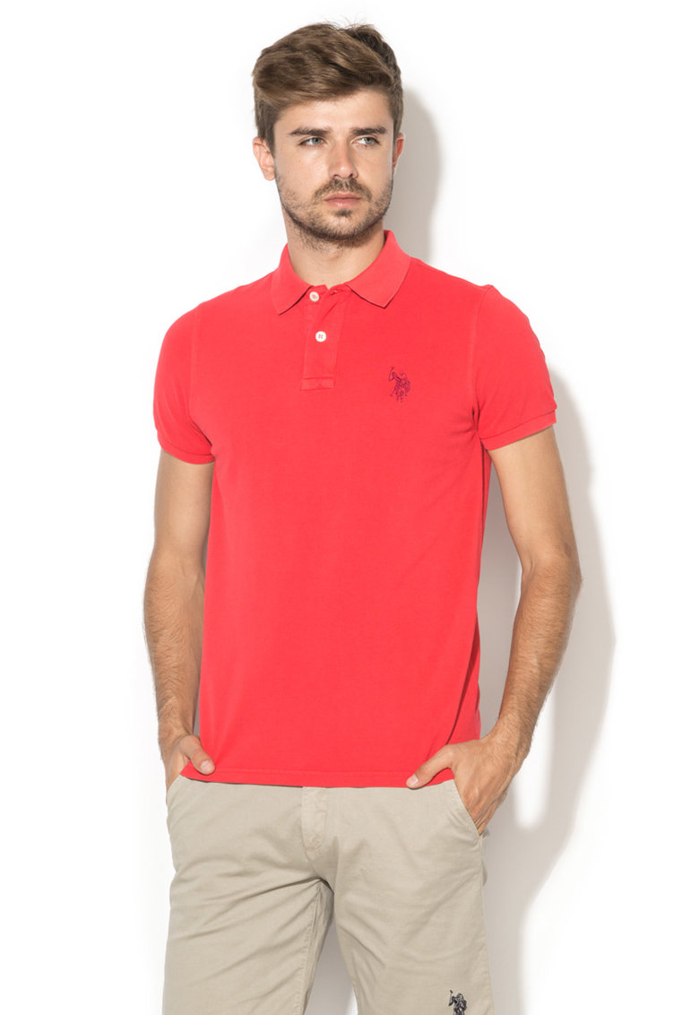 US Polo Assn Tricou polo rosu Player