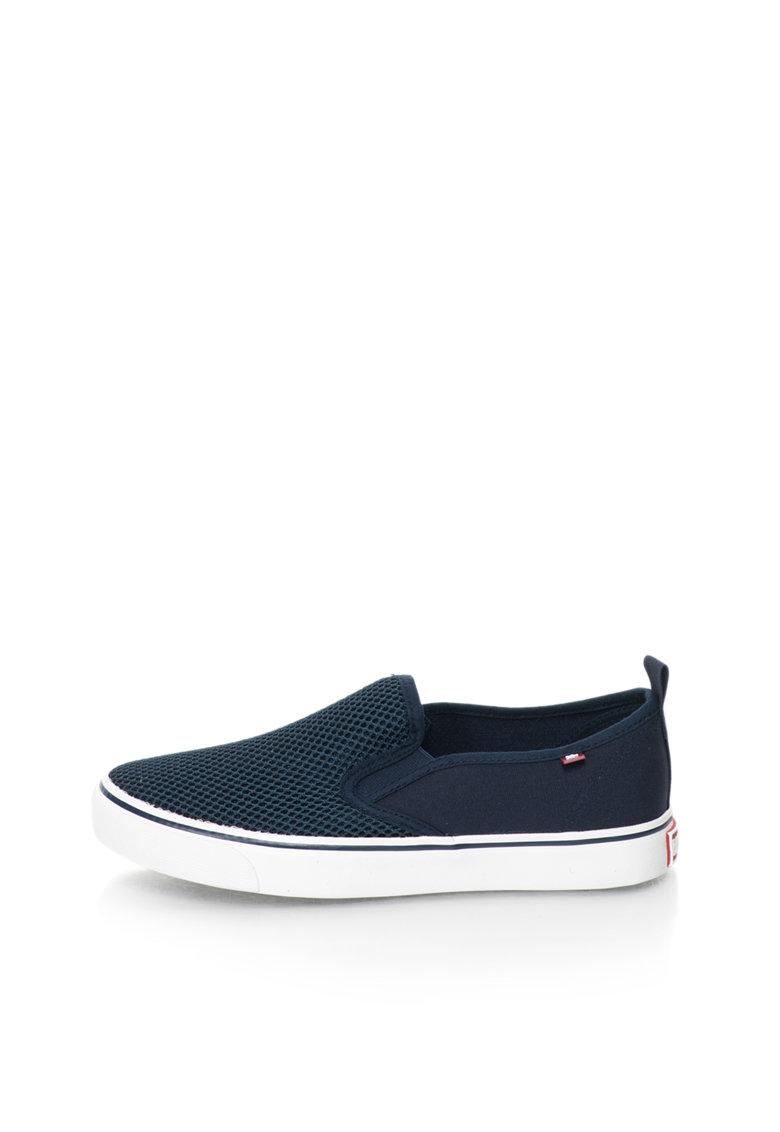 Big Star Pantofi slip-on bleumarin cu plasa