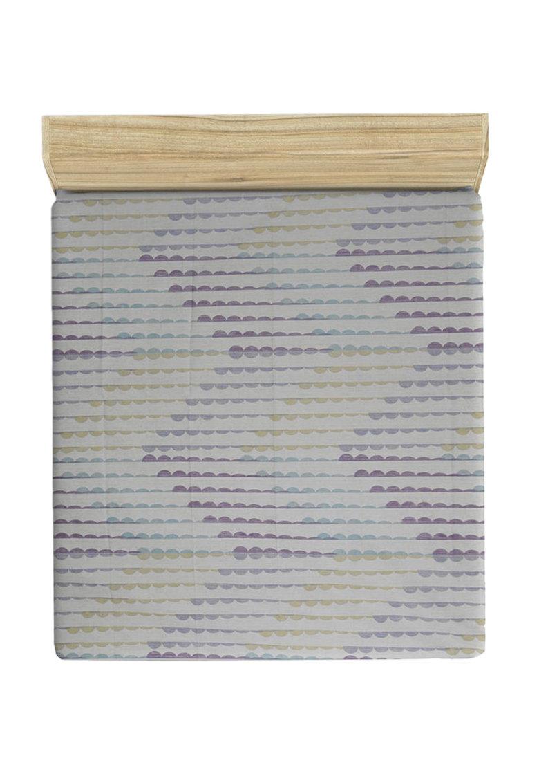 Cearsaf cu elastic si model abstract de la Leunelle