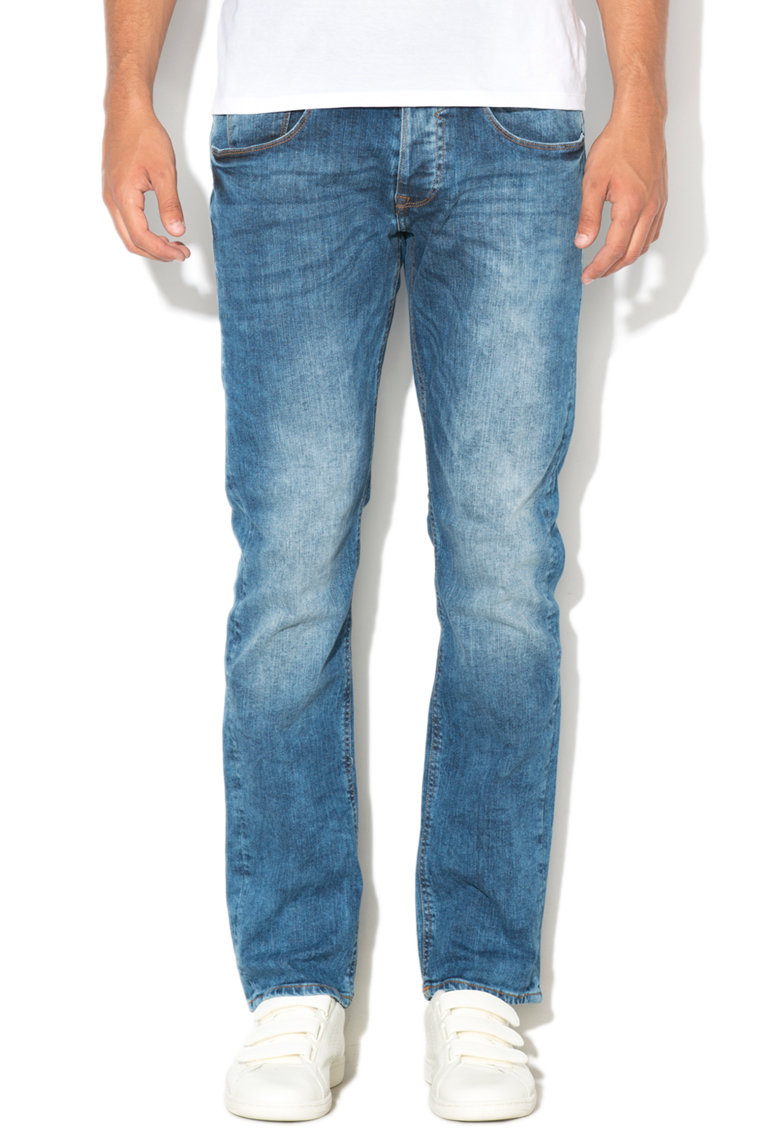 GUESS JEANS Blugi drepti slim fit cu aspect decolorat