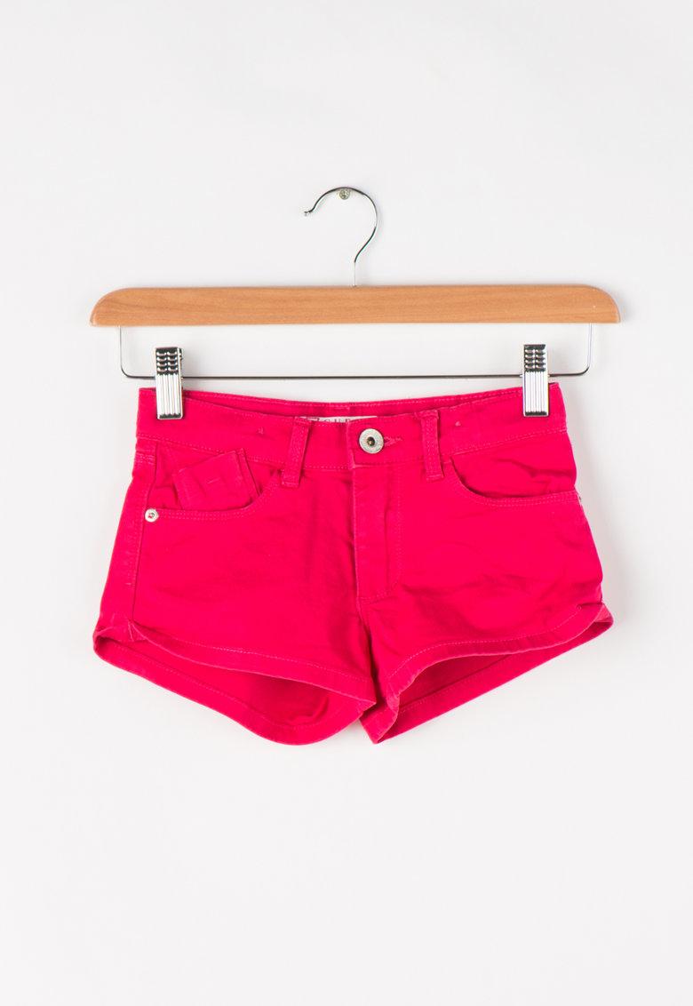 GUESS JEANS Pantaloni scurti cu terminatii rasucite
