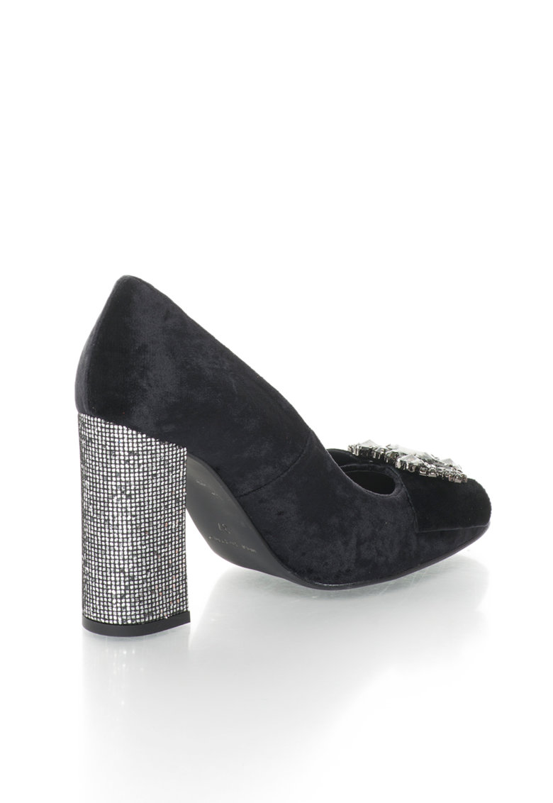 Zee Lane Collection Pantofi catifelati cu strasuri