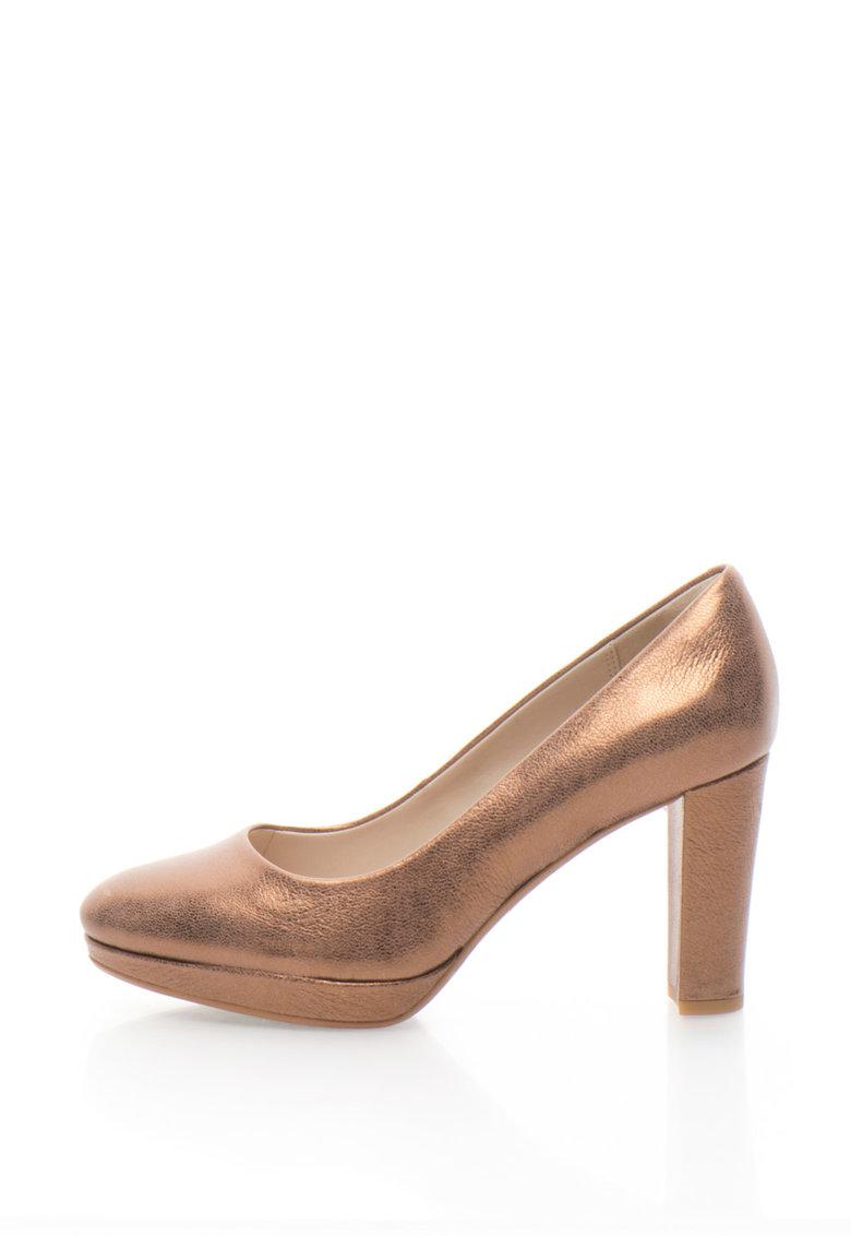 Clarks Pantofi de piele cu toc inalt Kendra Sienna