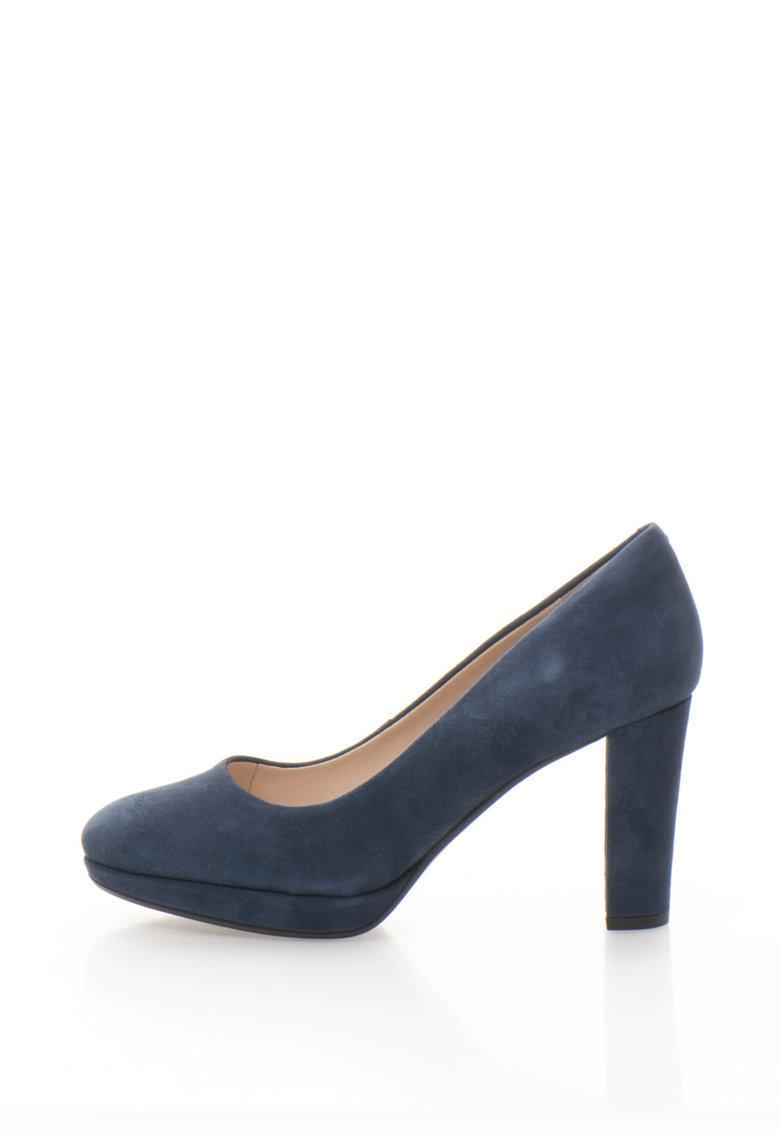 Clarks Pantofi de piele intoarsa cu toc inalt Kendra Sienna