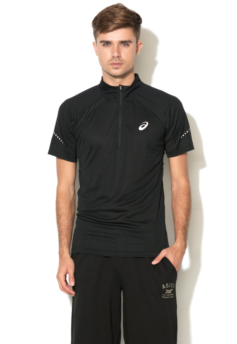 Tricou pentru alergare cu fenta cu fermoar de la Asics